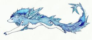 Ice Crystal wolf by NavaKitty