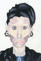 The Girl With the Dragon Tattoo painting by IkeDaArtist