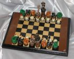 Hissing Snakes Chess Set by cyrusel