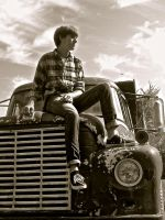 A boy and his truck by nancy24601