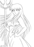 Saint Seiya - Under Her protection - ligne by Iso-pI
