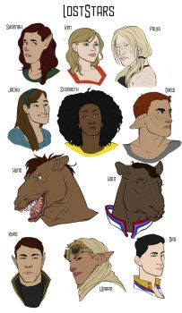 Lost Stars Cast by wandaluvstacos