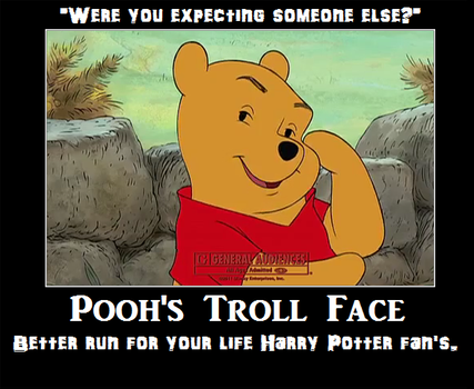 Pooh's troll face by Nessearthbound