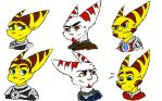 Ratchet, Alister and Kaden Sketches by RadiantHearts