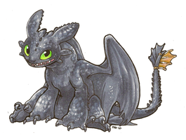 HTTYD: Toothless by Majime