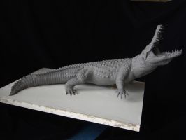 Nile Crocodile sculpt- work in progress by revenant-99