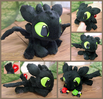 Little Toothless - handmade plush by Piquipauparro