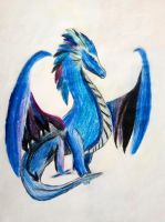 Blue Dragon by RainbowMoonStar