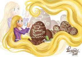 Rapunzel easter by Chibi91