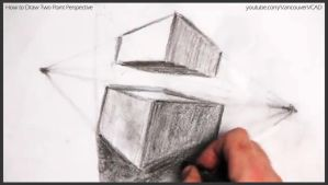 How to draw two point perspective 027 by drawingcourse