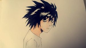 Death Note-L by AnimeLaura