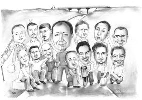 group caricature by Cayasha