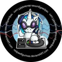 DJ Pon3 Chibi Badge by RedPawDesigns