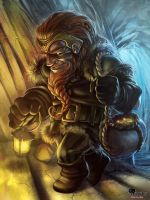 Greedy dwarf by APetruk