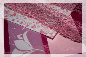Pink paper, pink ribbon by lildreams