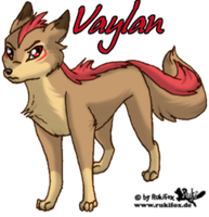 Vaylan the father of Pyro by RukiFox