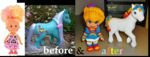 rainbow brite doll + horse by thesmurfet