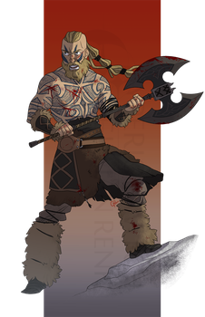 Commission: Bjorn Skalgrim 2 by hyperionwitch