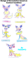 Design Eeveelution based on Contest Condition by zigaudrey