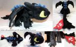 Chibi Toothless Alpha Dragon plushie [SOLD] by ShiroTheWhiteWolf