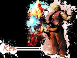 SFIV Splatter Ken by Vegett0