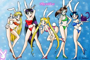 Sailor Moon Bunnies by chaotic-chick