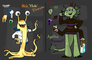 FanCharacter: Monsters Inc. OC [References] by Mossygator