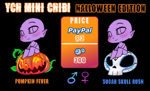 YCH: Mini Chibi: Halloween Edition by NightmareInspections