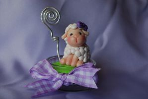 Spring Sheep memo holder by Libellulina