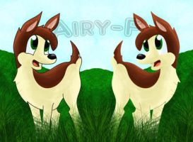 Fawns by Airy-F