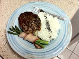Japanese Hamburger Steak by Corselia