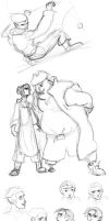 Treasure Planet studies by Ditchmaster
