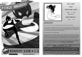 Biscuit Lick SuperHero Card by shyshadow