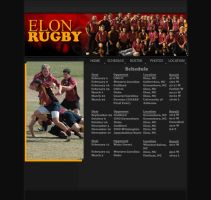 Elon Rugby Schedule Page by Kvitne
