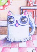 Funny cat is a mug by KingZoidLord