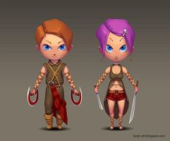Chibi Warrior by DmitryGrebenkov