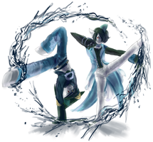Vaporeon Gallade Dance Battle by bunnish