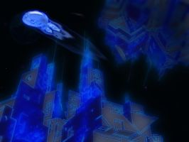 Cosmos Arcology Collision by Royce-Barber