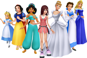 the Seven Princesses of Heart by montey4
