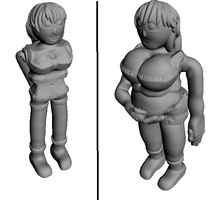 fat 3d girl by fatty-lover