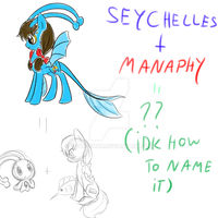 My Little Hetamon: Seychelles+Manaphy by PrincessCelestia908