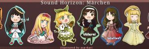 Sound Horizon: Marchen Chibis by kariavalon