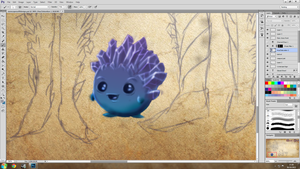 Runescape Outfit Comp 2013 WIP - Ice Shard Pet! by jessparry