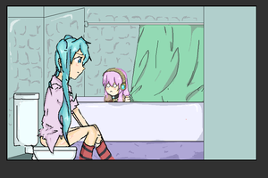Miku. On the Toilet. by NaviStarfire