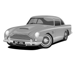 1963 Aston Martin DB5 - Bond by matt-chops