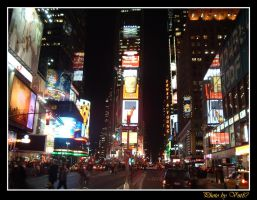 Times Square at Night by vnt87