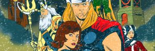 Thor banner for Blastoff Comics by elena-casagrande