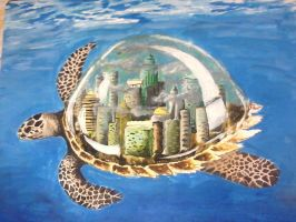 snowglobe turtle by SophiaLizz