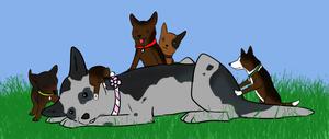 Farewell Pups! by Alcemistnv