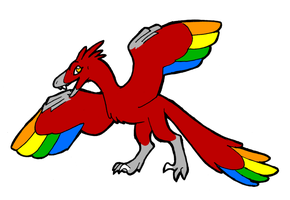 Scarlet the Archaeopteryx by Blairaptor